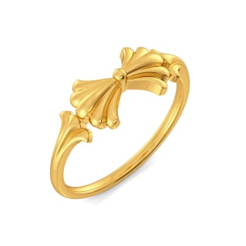 The Calm Palm Gold Rings