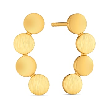 Safe for Work Sequins Gold Earrings