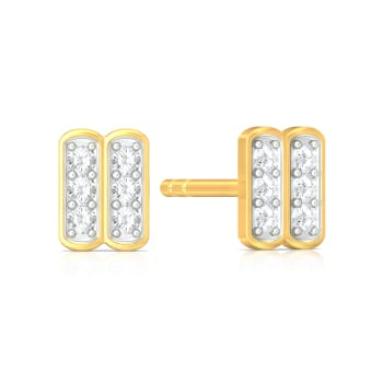 Spots and Stripes Diamond Earrings