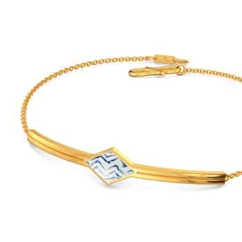 Tie & Dye Folds Gold Bracelets
