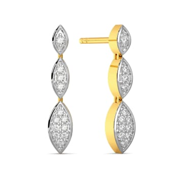 Theory of Trine Diamond Earrings