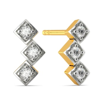 Thinking Three Diamond Earrings