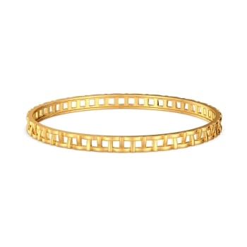 Basket Knits Gold Bangles