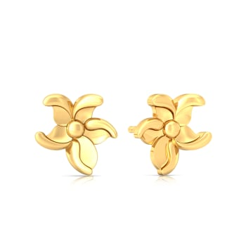 Morning Glory Gold Earrings