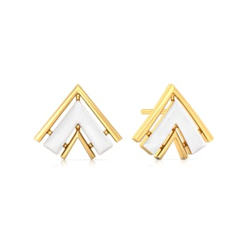 The Golden Chevron Gold Earrings