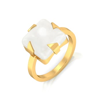 Whiter Than White Gemstone Rings