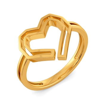 Puff Love Gold Rings
