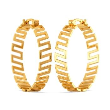 Drama Rules Gold Earrings
