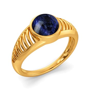 Dyed in Denim Gemstone Rings