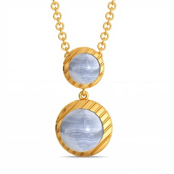 Speckled in Blue Gemstone Pendants