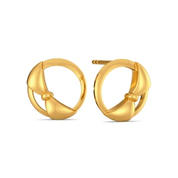Round Abouts Gold Earrings