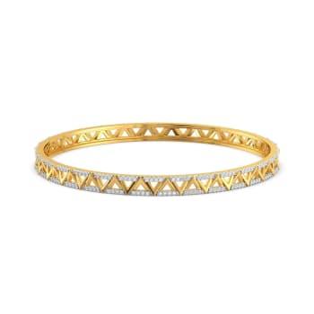 Cross Bows Diamond Bangles