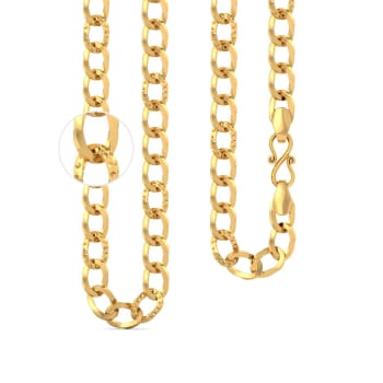 22kt large link curb chain Gold Chains