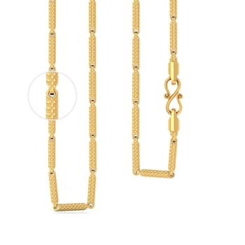 22k Shimmer cylinderical chain Gold Chains