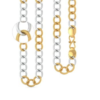 22kt Two Toned Curb Link Chain Gold Chains