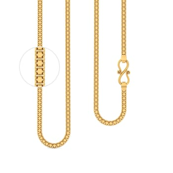 22kt Flat Dual Strand Cable Chain Gold Chains