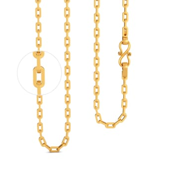 22kt Flat Linked Anchor Chain Gold Chains