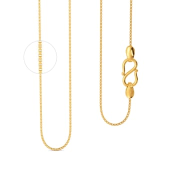18kt Two Box Chain Gold Chains