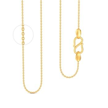 18kt Round Anchor Chain Gold Chains