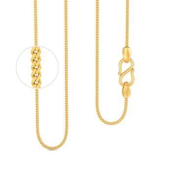 18kt Slender Curb Chain Gold Chains