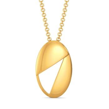 Edgy Formals Gold Pendants