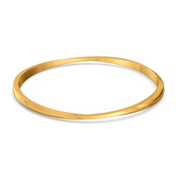 Edgy Formals Gold Bangles