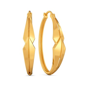 Fit to Bold Gold Earrings