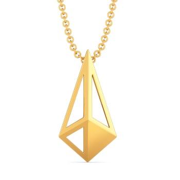 Edgy Contours Gold Pendants