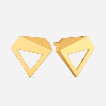 Fit Shaped Gold Earrings