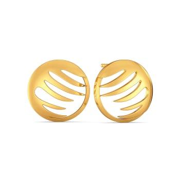 Sunny Streaks Gold Earrings
