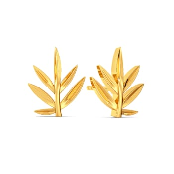Palmetto  Gold Earrings