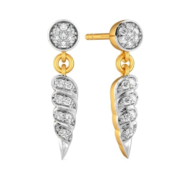 Song of the Shell Diamond Earrings