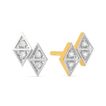 Plaid Power Diamond Earrings