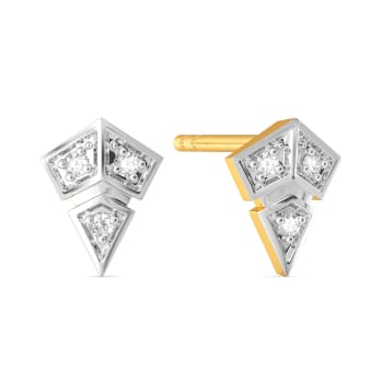 Print O Plaids Diamond Earrings