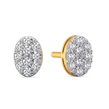 Oval Entrée Diamond Earrings
