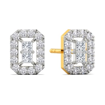 Curious Quad Diamond Earrings