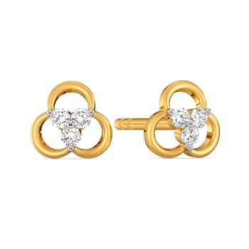 Troika Tree Diamond Earrings