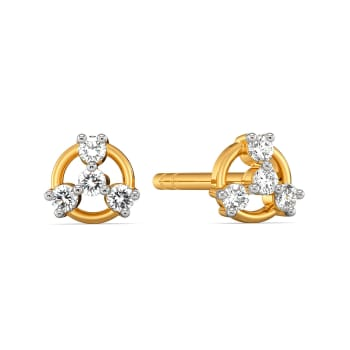 Spin the Wheel Diamond Earrings