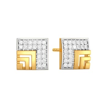 Pair the Square Diamond Earrings