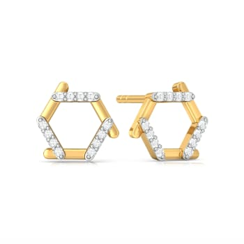 Hexa Fab Diamond Earrings