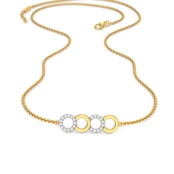 Tick Tack Diamond Necklaces
