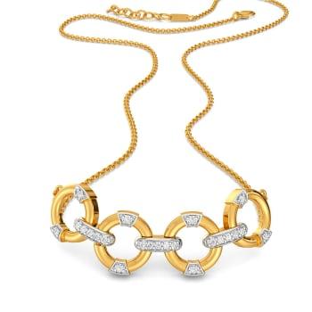 Four Floats Diamond Necklaces