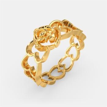 Rebel Rose  Gold Rings
