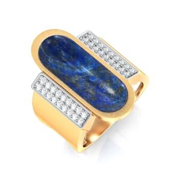 Indigo Denim Diamond Rings