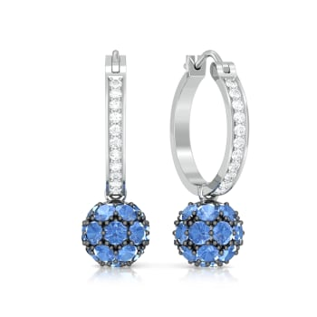 Blue Orb Diamond Earrings