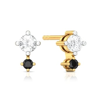 Duet of Dots  Diamond Earrings