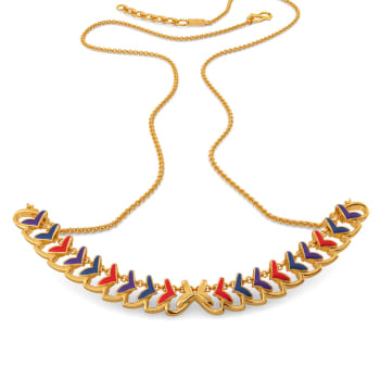 Plume Palette Gold Necklaces