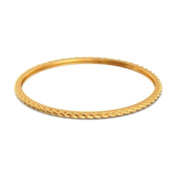 Fringe Twirls Gold Bangles