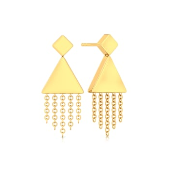 Fringe Swing Gold Earrings