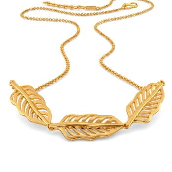 Feather Fiesta Gold Necklaces